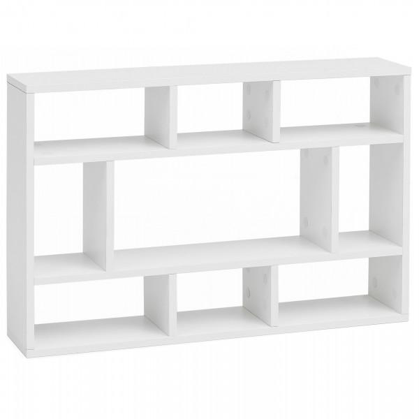 WOHNLING Wandregal Aura Weiß 75x51x16 cm Hängeregal Modern | Design Wandboard Freischwebend