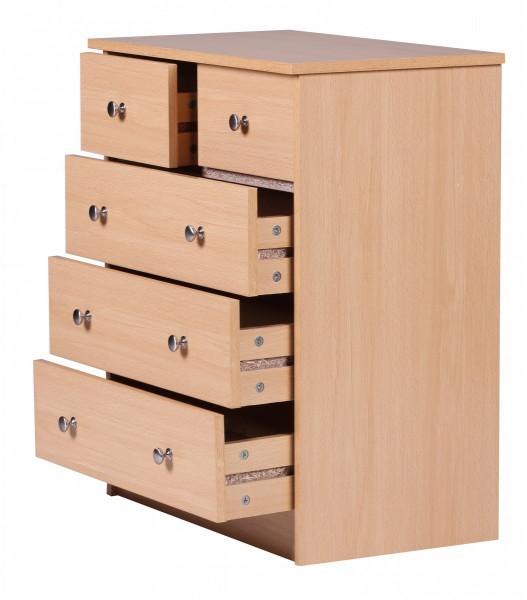 WOHNLING Design Holz-Kommode PRUE 60 x 70 x 35 cm buche