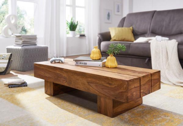 WOHNLING Couchtisch SIRA Massiv-Holz Sheesham 120cm breit