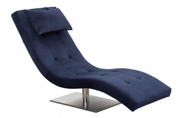 Relaxliege Samt blau