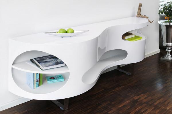 Sideboard 200x50x75 cm weiß