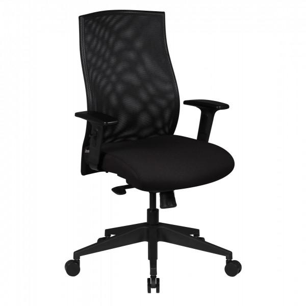 AMSTYLE Bürostuhl DAVID Bezug Stoff Schwarz Schreibtischstuhl Design Chefsessel