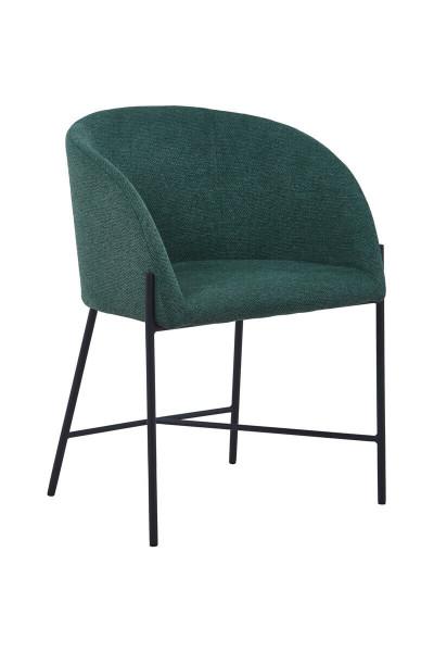 Stuhl mit Armlehnen Strukturstoff tannengrün