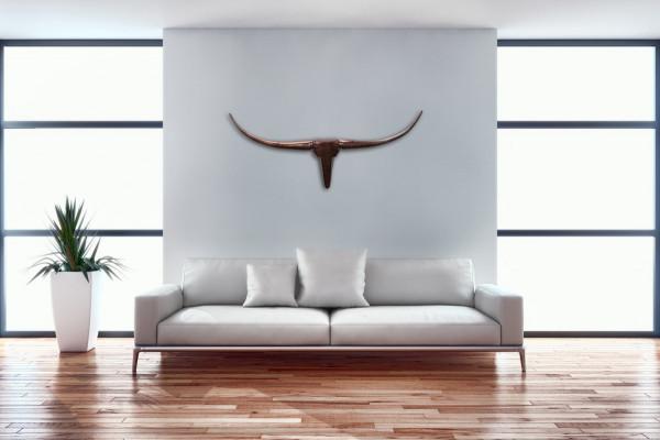 Wohnling Wanddekoration Geweih Bull S 75 cm Aluminium bronze