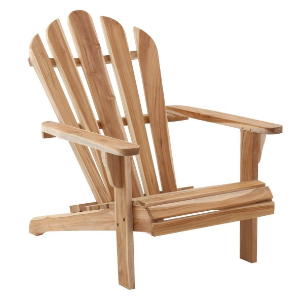 MÖBILIA Gartensessel Teak-Holz mit Armlehnen natur unbehandelt
