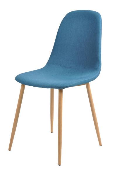 Esszimmerstuhl 4er Set blau Textil
