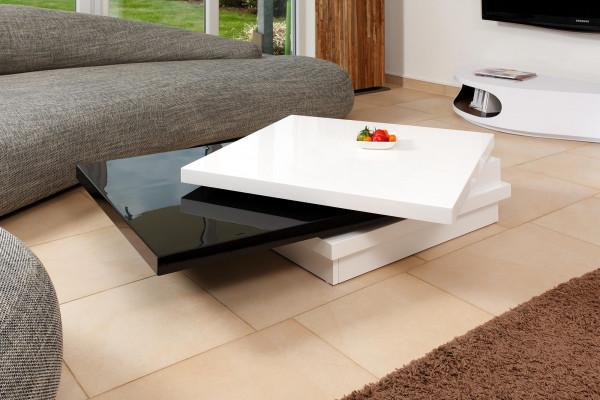 SalesFever Couchtisch 120X80 cm weiß/schwarz