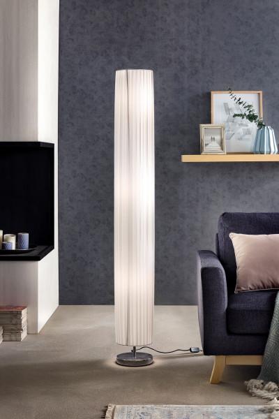 Stehlampe 160 cm rund weiß, chrom