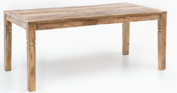 WOHNLING Esszimmertisch Braun Mango Massivholz | Design Landhaus Esstisch