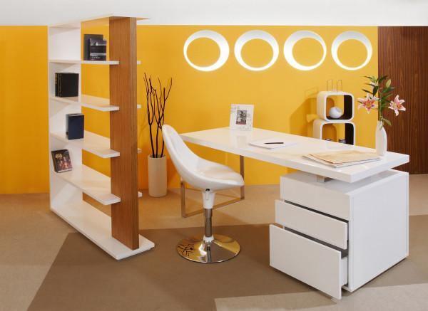Schreibtisch 180x85x76 cm weiß