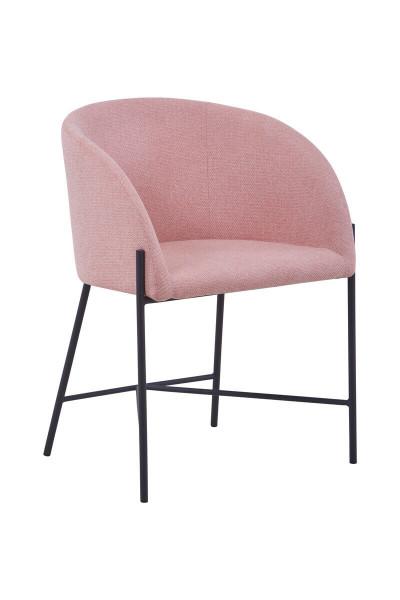 Stuhl mit Armlehnen Strukturstoff rose