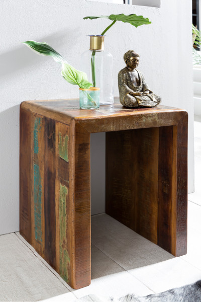 WOHNLING Beistelltisch RIVERBOAT | Massivholz Couchtisch Wohnzimmer Tisch
