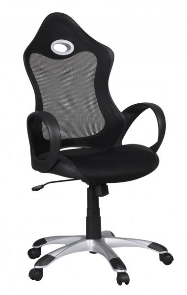 AMSTYLE Bürostuhl SALSA Stoffbezug Schreibtischstuhl Armlehne schwarz grau Chefsessel Drehstuhl