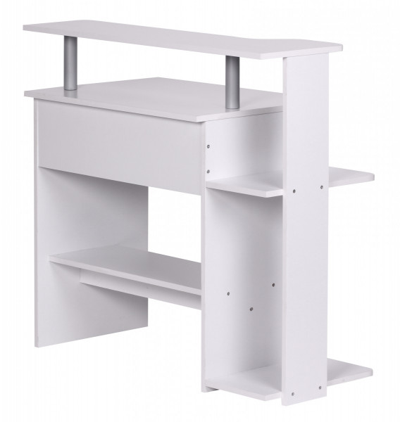 WOHNLING Computertisch Weiß 94 x 90 x 48 cm