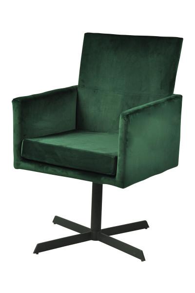 Stuhl tannengrün Samt 2er Set