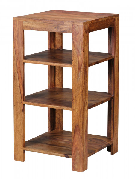 WOHNLING Standregal MUMBAI Massiv-Holz Sheesham 80 cm