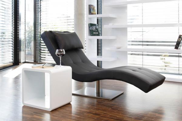 Relaxliege schwarz Kunstleder
