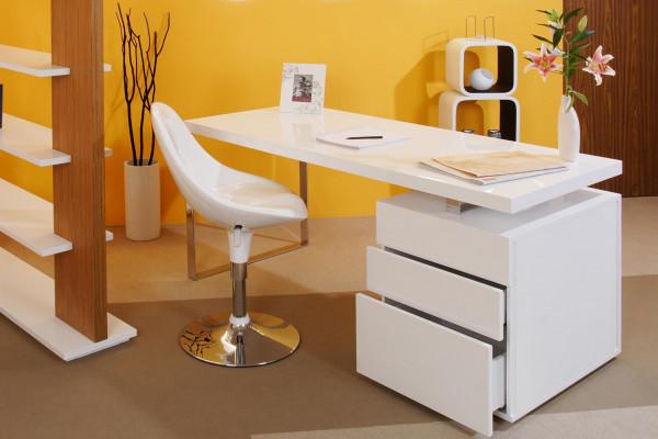 SalesFever Schreibtisch 160x70x76 cm weiß