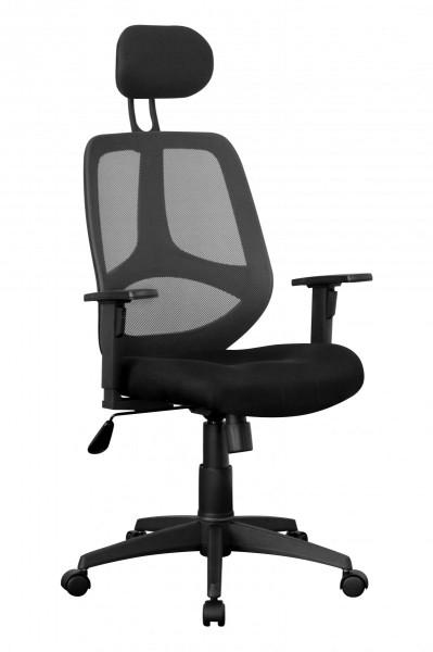 AMSTYLE Bürostuhl Stoffbezug Schreibtischstuhl 120 kg Armlehne schwarz Chefsessel Drehstuhl