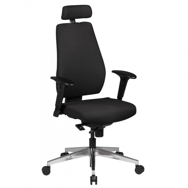 AMSTYLE Bürostuhl Schreibtischstuhl Stoff Schwarz Chefsessel Modern | Drehstuhl