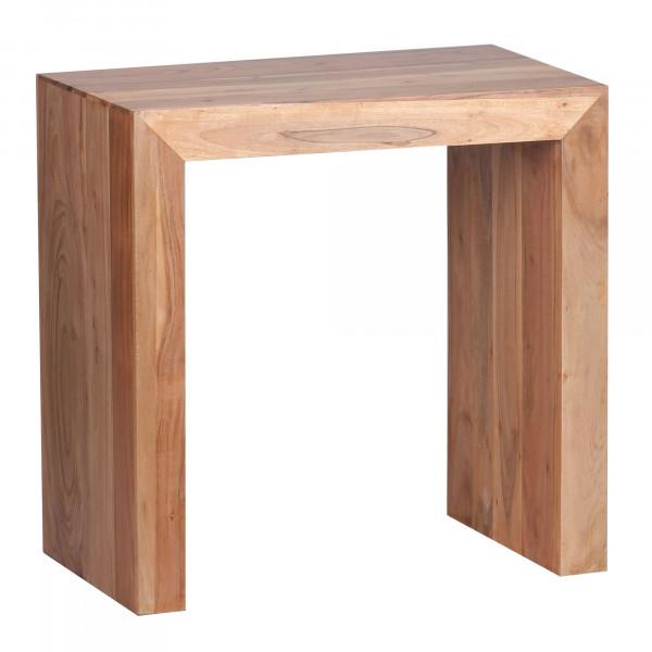 WOHNLING Beistelltisch MUMBAI Massiv-Holz Akazie 60 x 35 cm Wohnzimmer-Tisch