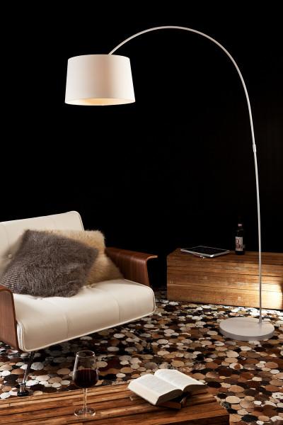 Bogenlampe 205 cm weiß