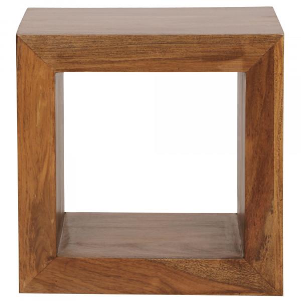 WOHNLING Standregal MUMBAI Massivholz Sheesham 44cm hoch Cube