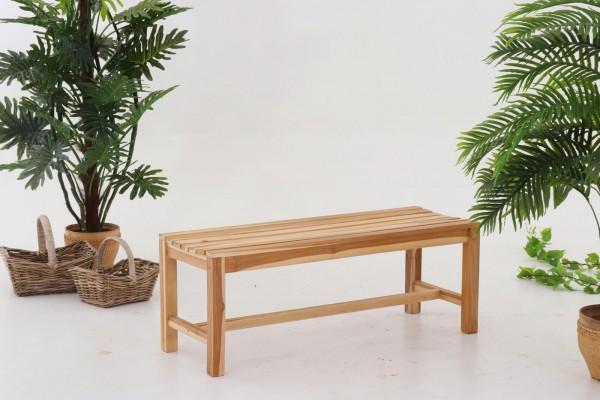 MÖBILIA Gartensitzbank, 120 cm, Teak-Holz 2-Sitzer natur unbehandelt