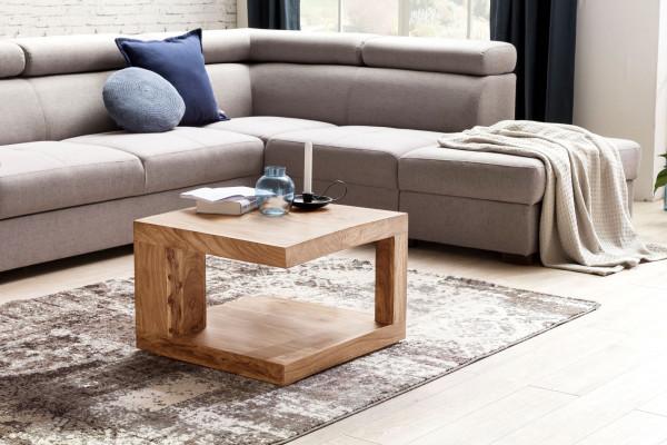 WOHNLING Couchtisch MUMBAI Massiv-Holz Sheesham 60x90 Wohnzimmer-Tisch