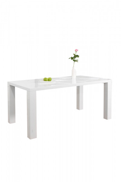 Esstisch 200x100x76 cm weiß