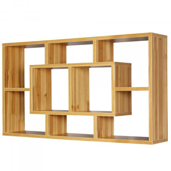WOHNLING Wandregal ALEX buche 85 x 47,5 x 16 cm MDF-Holz Hängeregal modern