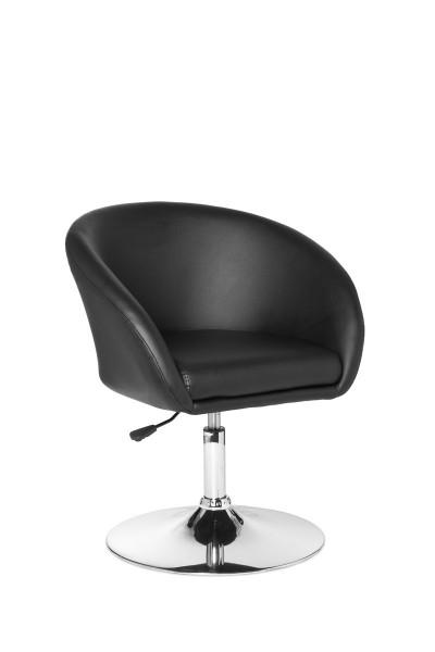 AMSTYLE Design Relaxsessel Loungesessel Kunstleder Cocktailsessel schwarz