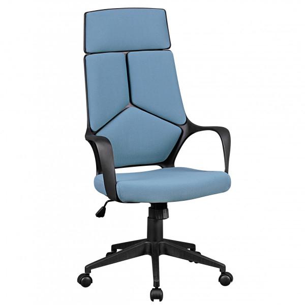 AMSTYLE Bürostuhl TECHLINE Stoffbezug Blau Schreibtischstuhl Design Chefsessel
