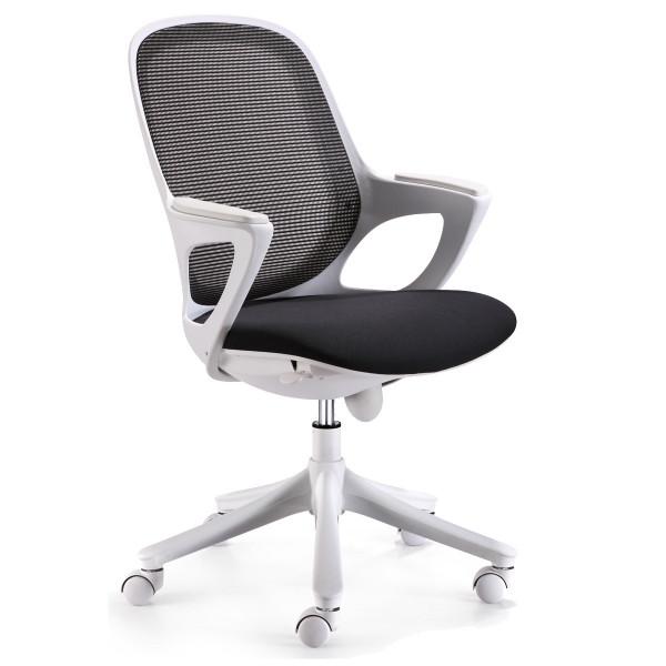 Amstyle Bürostuhl MAGLO Schwarz Stoff Schreibtischstuhl Drehstuhl Bürosessel mit Armlehnen