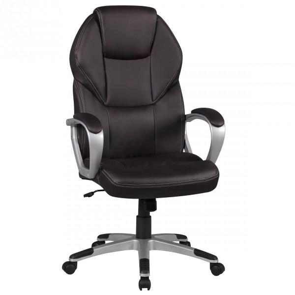 Amstyle Bürostuhl DETROIT Braun Kunstleder Schreibtischstuhl X-XL Chefsessel 120KG
