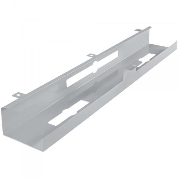 AMSTYLE® Kabelkanal Schreibtisch 80x7x13 cm Untertisch Kabelführung silber