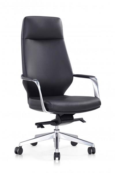 SalesFever Bürostuhl Kunstleder schwarz