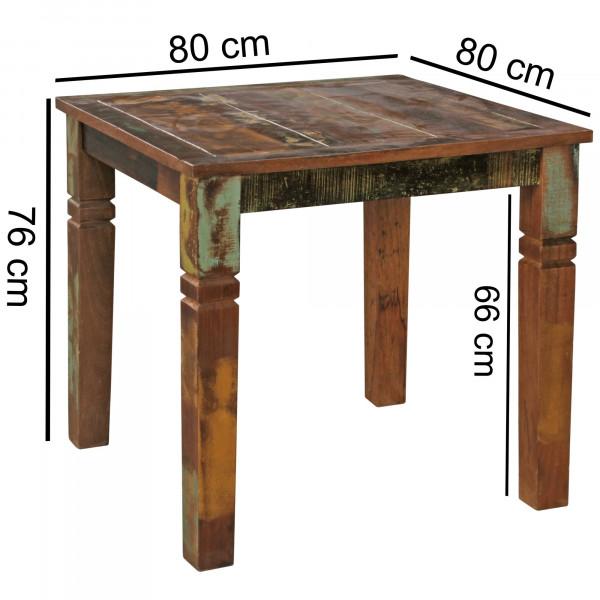 WOHNLING Esstisch RIVERBOAT Mango Shabby Chic Massiv-Holz