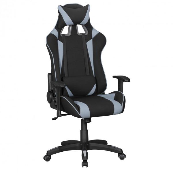 AMSTYLE® Bürostuhl SCORE Stoffbezug Schwarz / Grau Schreibtischstuhl Chefsessel Gaming Chair