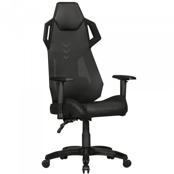 AMSTYLE® GamePad - Gaming Chair aus Kunstleder / Mesh in Schwarz