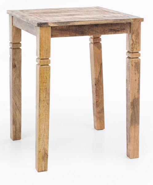 WOHNLING Bartisch RUSTICA Vintage Massiv-Holz Küchenbartisch | Landhaus Stehtisch