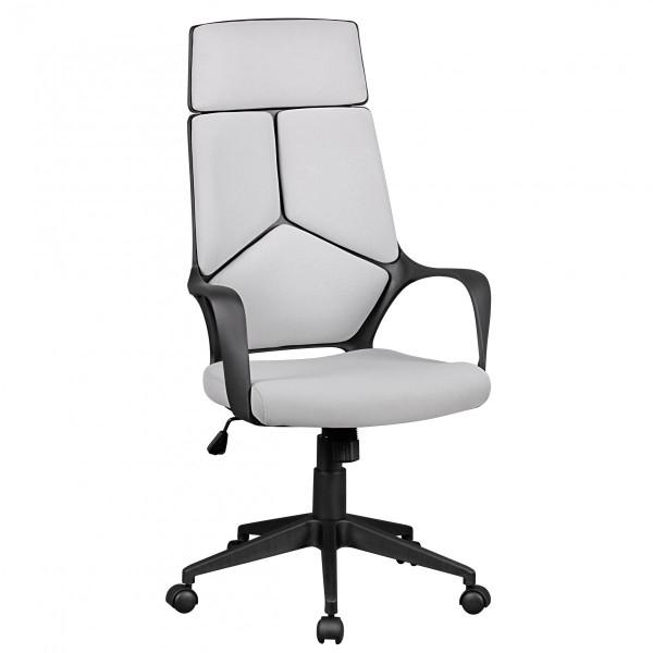 AMSTYLE Bürostuhl TECHLINE Stoffbezug Hellgrau Schreibtischstuhl Design Chefsessel