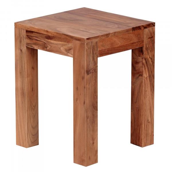 WOHNLING Beistelltisch MUMBAI Massiv-Holz Akazie 35 x 35 cm Wohnzimmer-Tisch