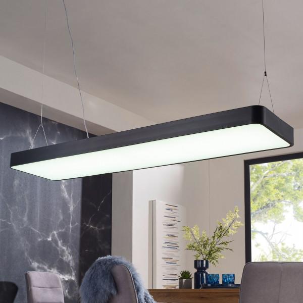 WOHNLING LED-Deckenleuchte LINE Matt schwarz Metall EEK A+