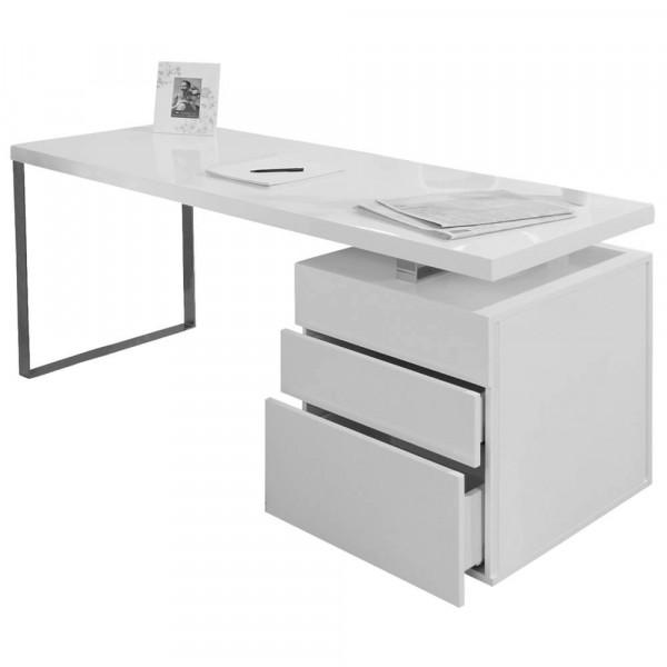 Schreibtisch 160x70x76 cm weiß