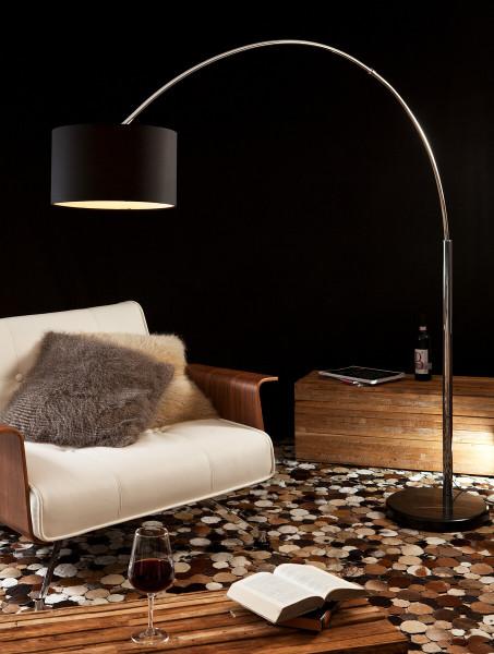 Bogenlampe 210 cm schwarz