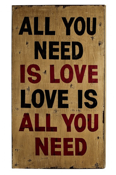 Wandbild Wall-Art Love 50x90x4 cm