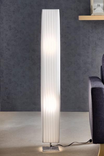 Stehlampe 120 cm eckig weiß, chrom