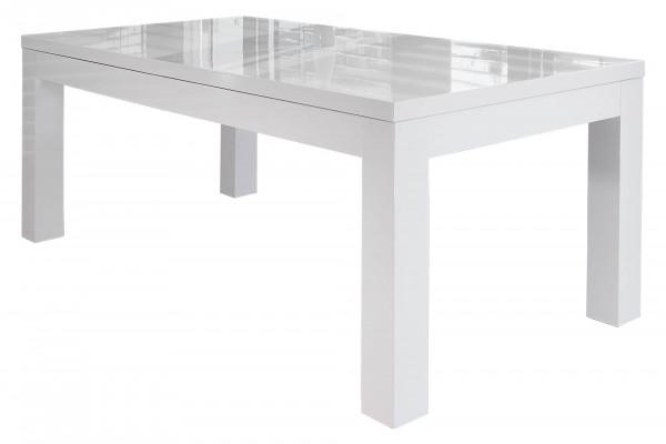Esstisch 180/260x90 cm weiß