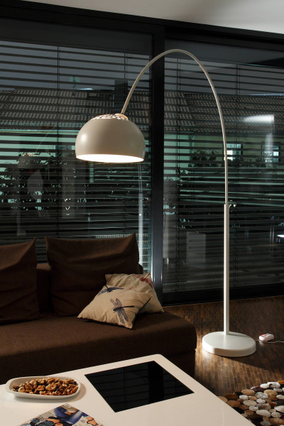 Bogenlampe 195 cm weiß